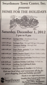 Swarthmore Town Center's schedule for Home for the Holidays!
