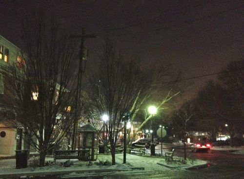 Downtown Swarthmore in the snow...