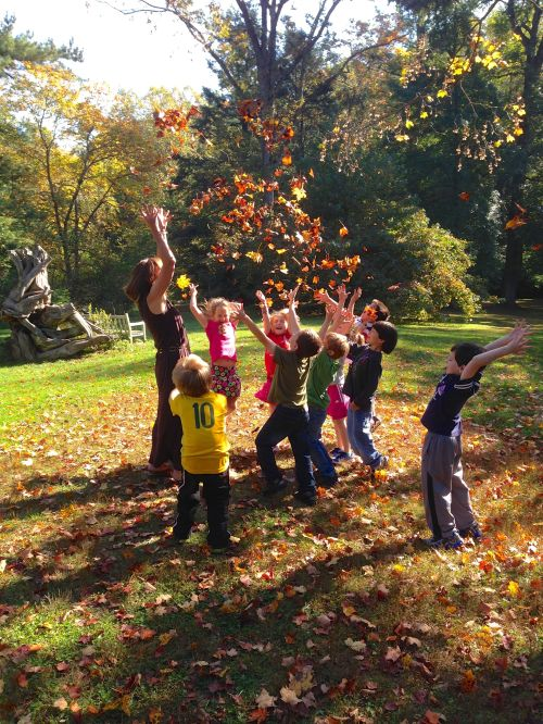 Swarthmore Rutledge Elementary School students celebrate fall's arrival with a field trip to Tyler Arboretum!