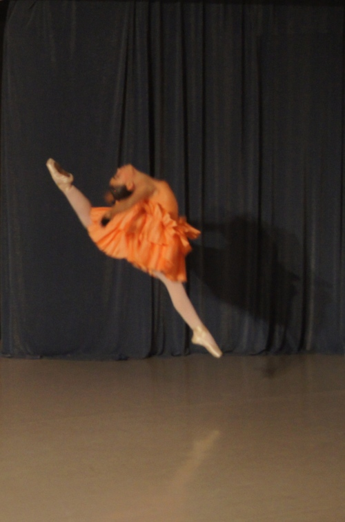 Grace Hodges performs a gracefully athletic Spanish dance (Photo courtesy of Swarthmore Ballet Theatre)