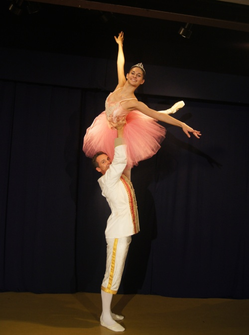 Alia Federicow's breathtakingly elegant Sugar Plum Fairy is held aloft by Cavalier, Donn Guthrie