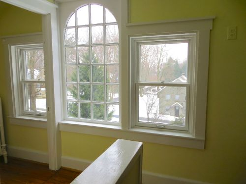 A gorgeous window welcomes you to the third floor den
