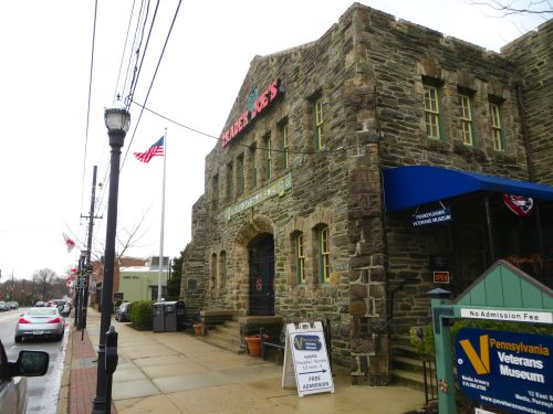 Who doesn't love a Trader Joe's? Especially when it shares its digs with the castle-like PA Veterans Museum.