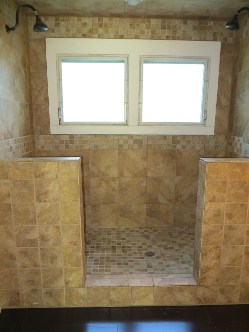 And I can't resist showing the shower-for-two!