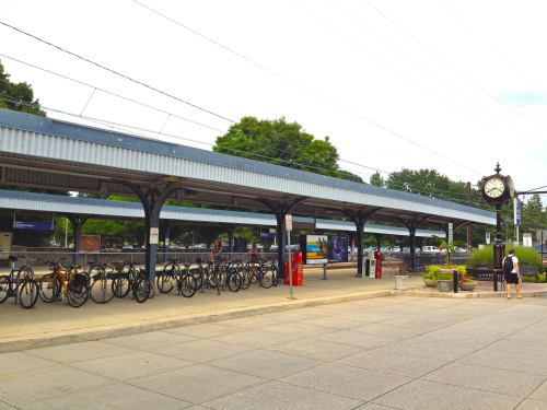 ...the R3 train station - complete with bike racks!