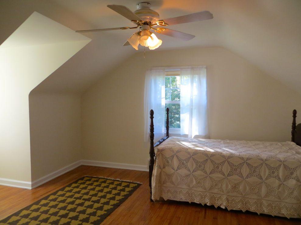 Bedroom 2 is upstairs with plenty of dormer storage