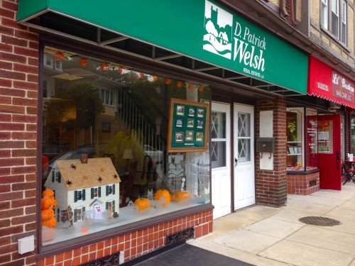 ...taken from in front of our small local real estate firm, which is decked out for Halloween!