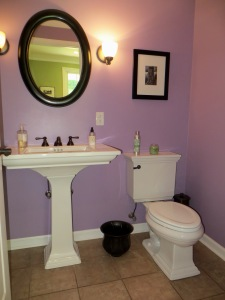 ...the powder room...