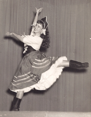 Mrs. Ardis performing in 1952