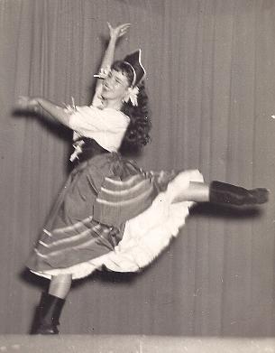 Mrs. Ardis performing in 1952