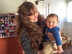 Mrs. Flynn with her grandson
