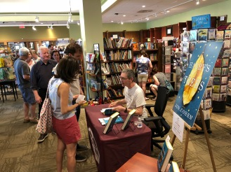 The line for a signed copy stretched out the door and into the lobby!